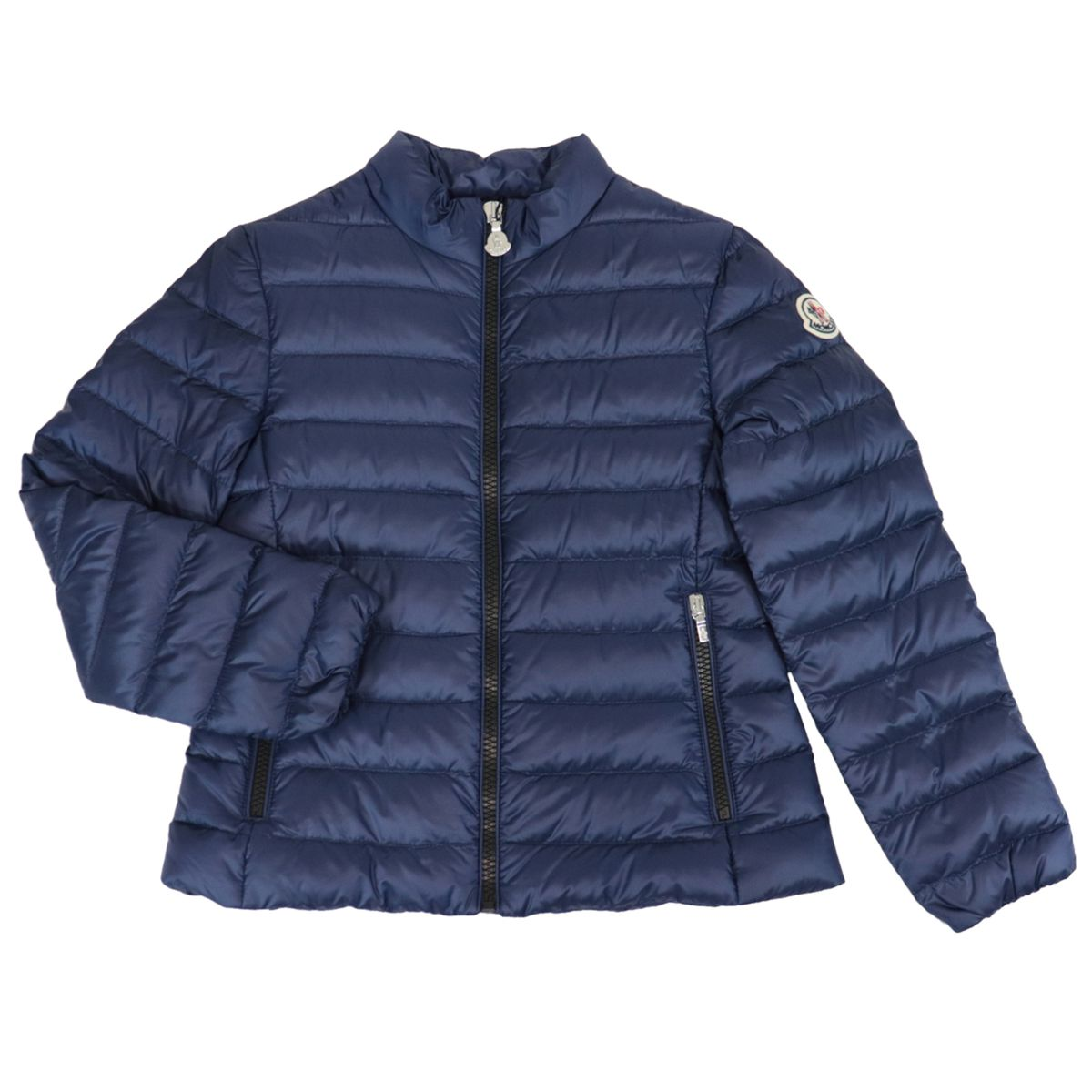 Kaukura quilted nylon down jacket with logo patch Navy Moncler
