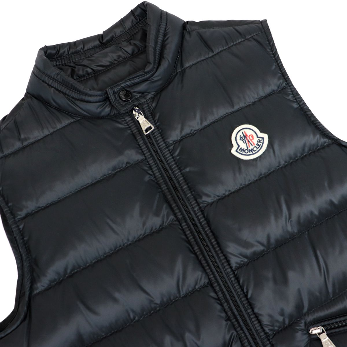 Gui vest in quilted nylon with zip and logo patch Black Moncler