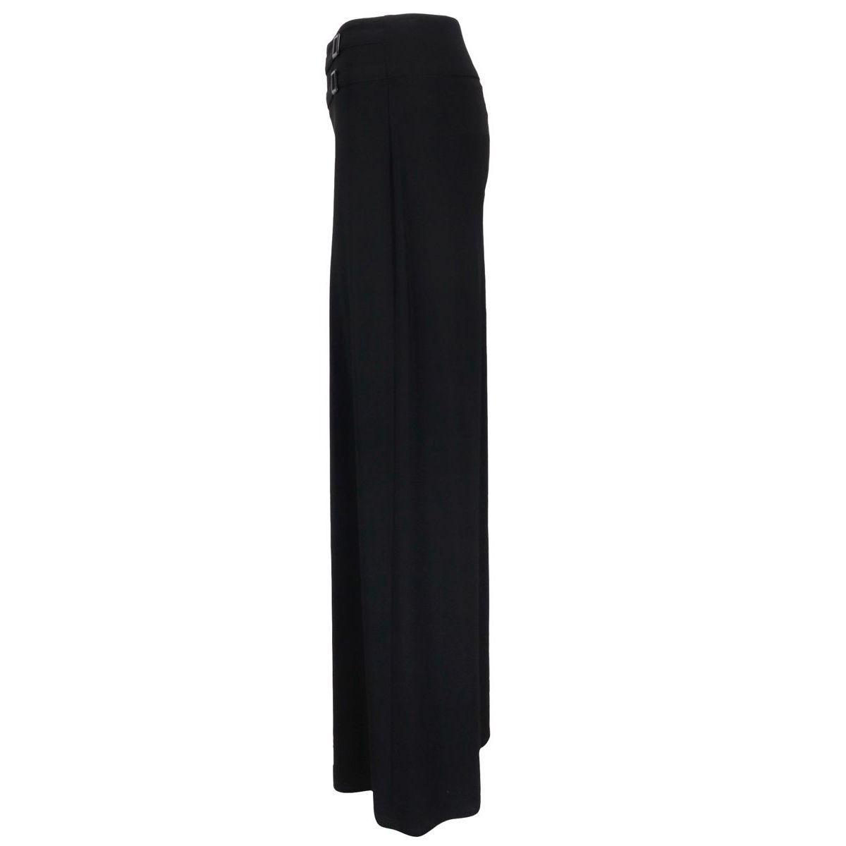Wide jersey trousers with waist buckles Black Joseph Ribkoff