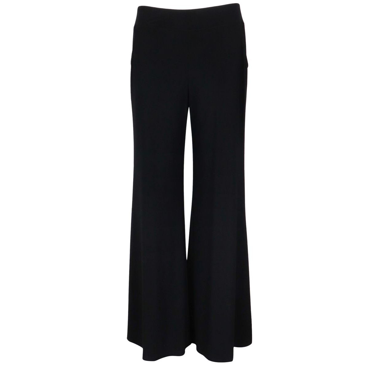Crepe trousers with wide bottom Black Joseph Ribkoff