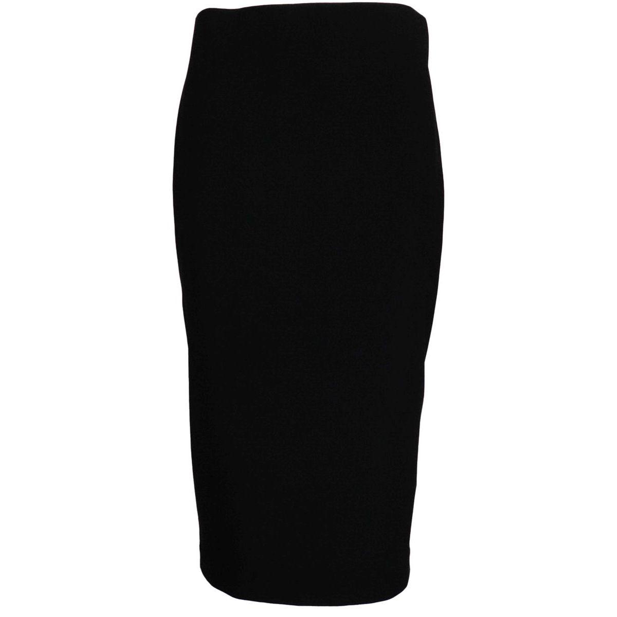 Crepe pencil skirt with slit on the back Black Joseph Ribkoff