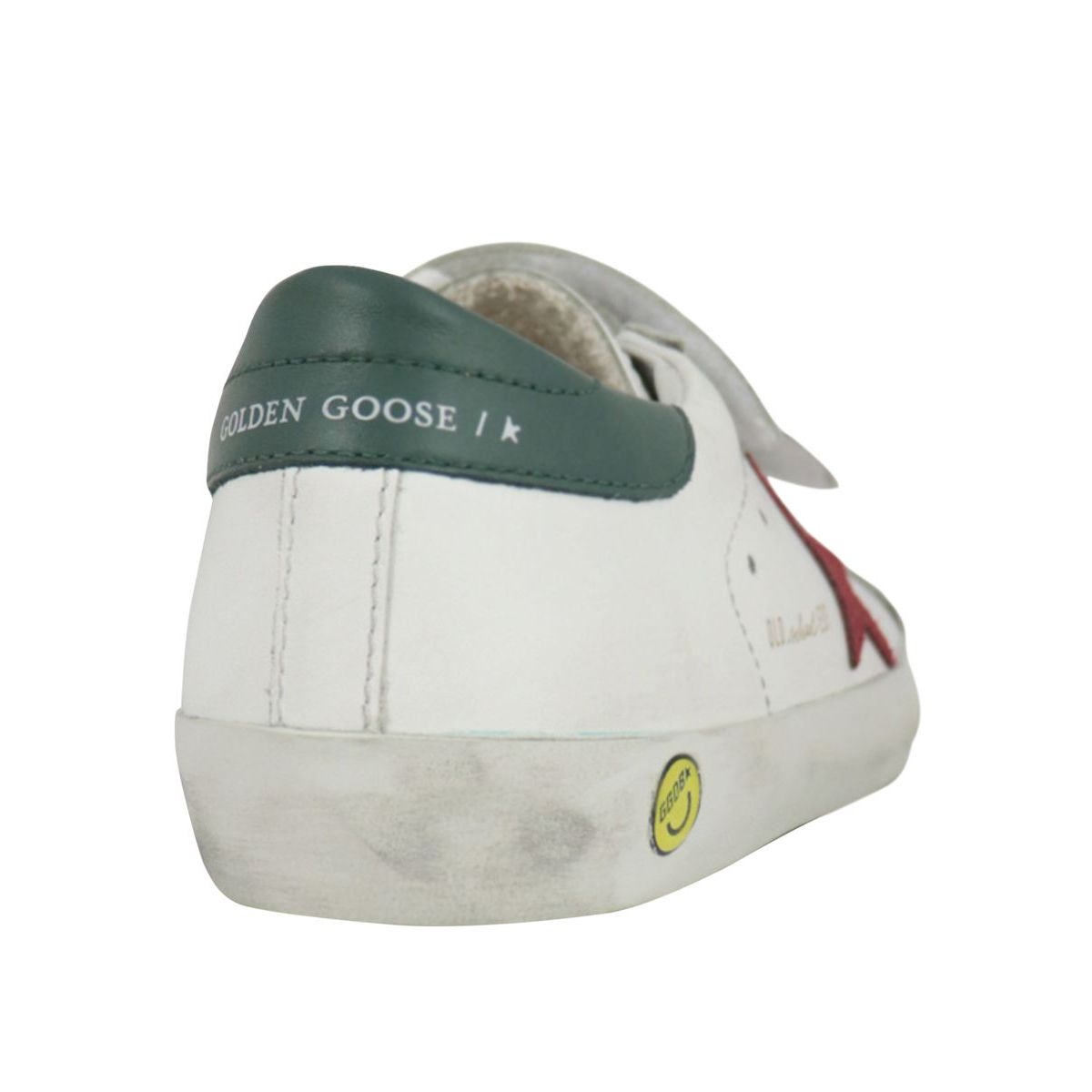 Old School leather sneakers with contrasting suede star White GOLDEN GOOSE