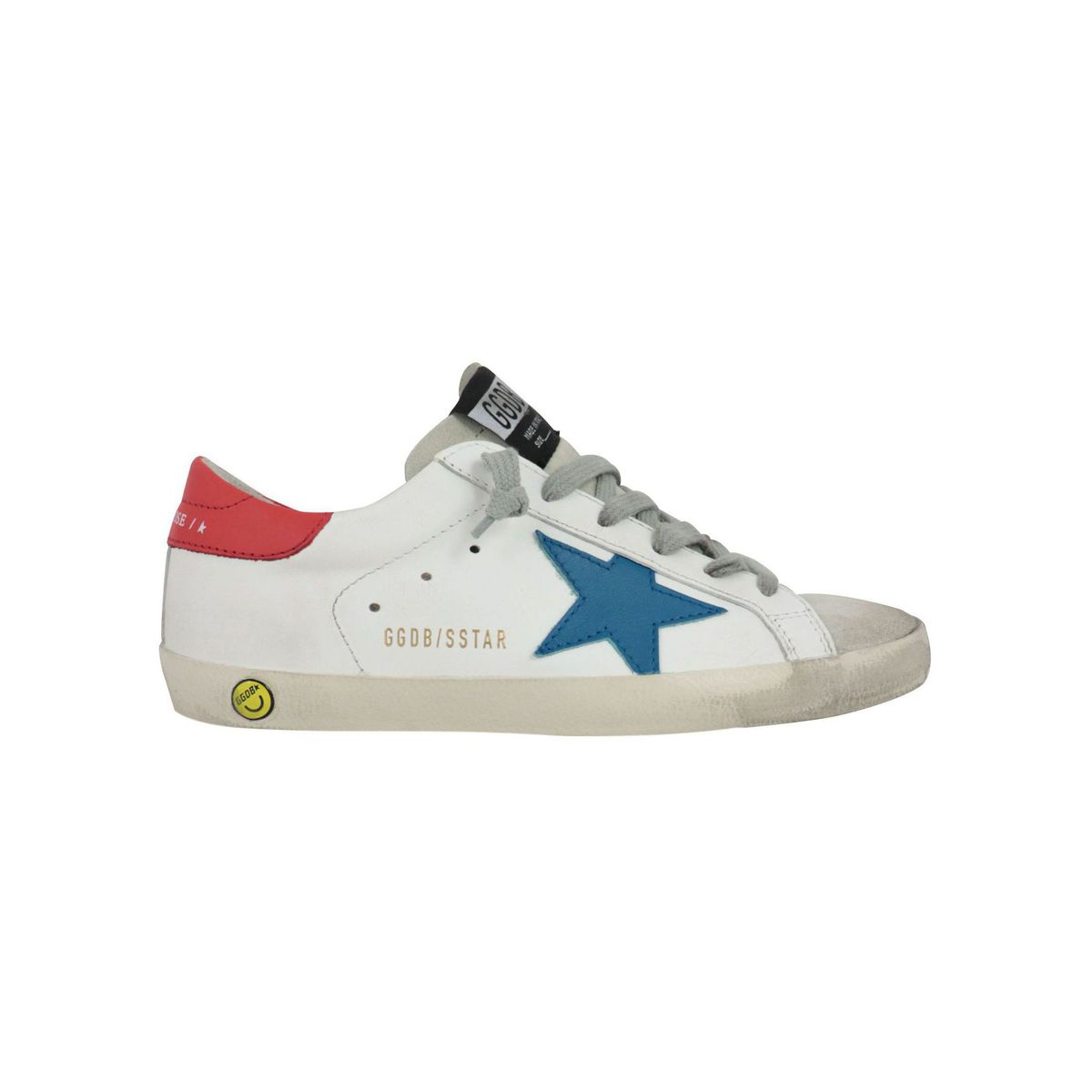 Leather sneakers with contrasting suede star White GOLDEN GOOSE
