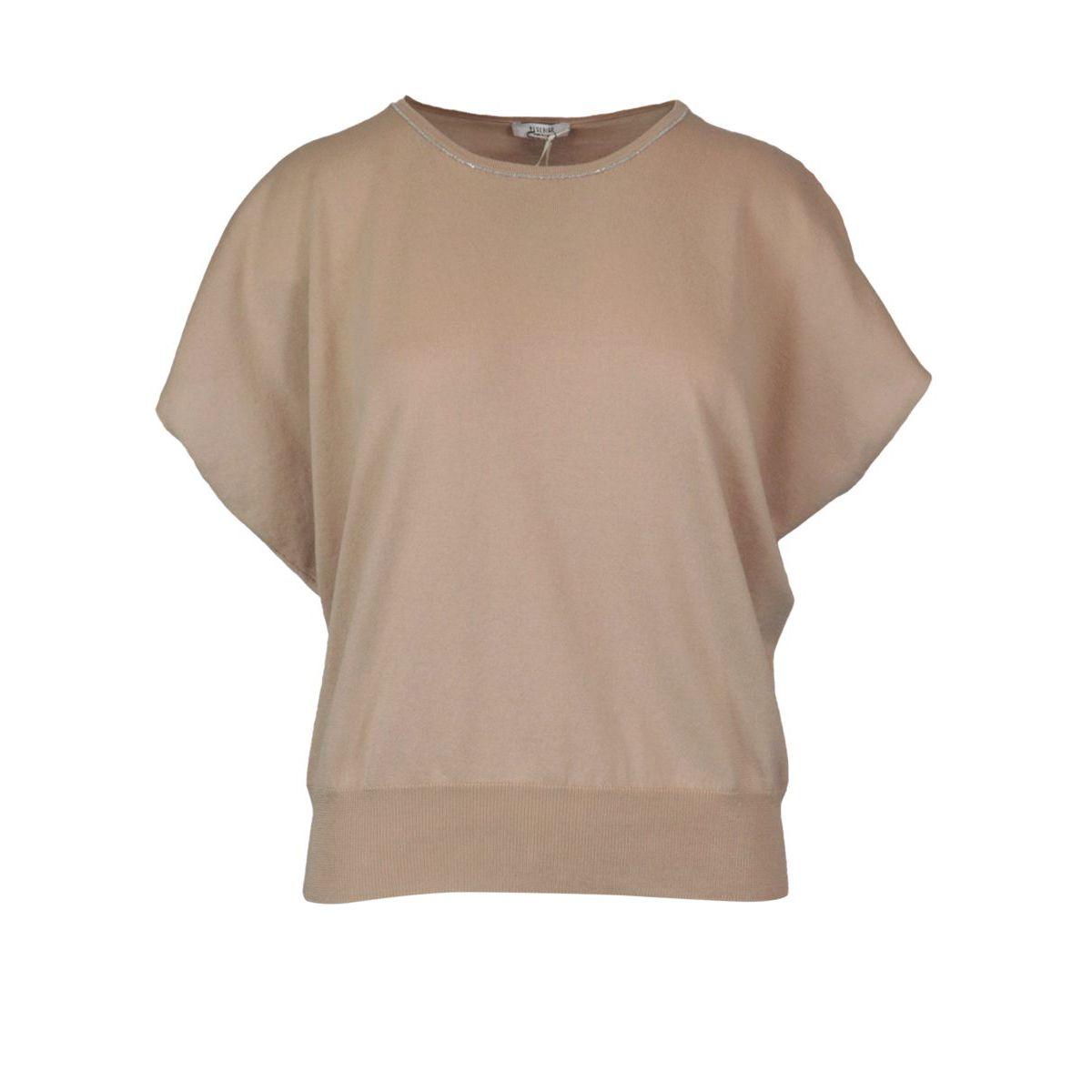 Cotton sweater with raglan sleeve Camel PESERICO