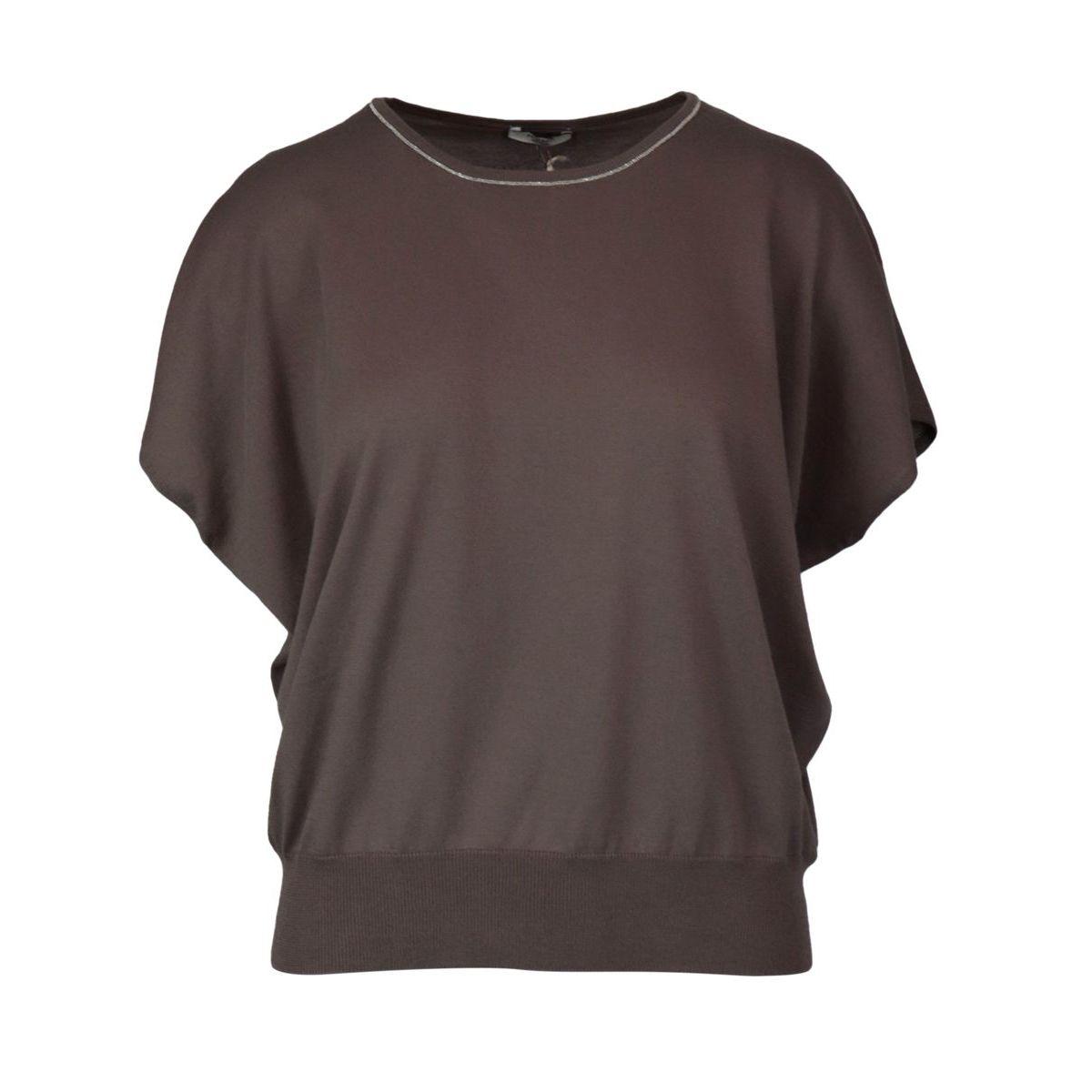 Cotton sweater with raglan sleeve Tortora PESERICO