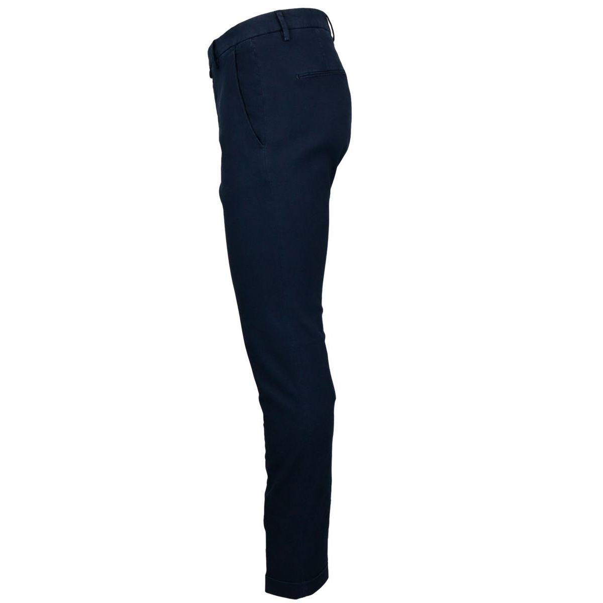 Slim stretch cotton trousers Navy Briglia