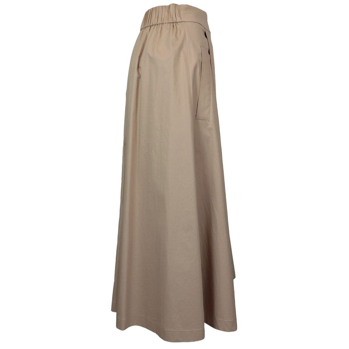 Cotton skirt with pockets Camel PESERICO