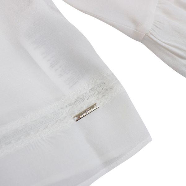 Viscose blouse with ruffle sleeves White Liu Jo