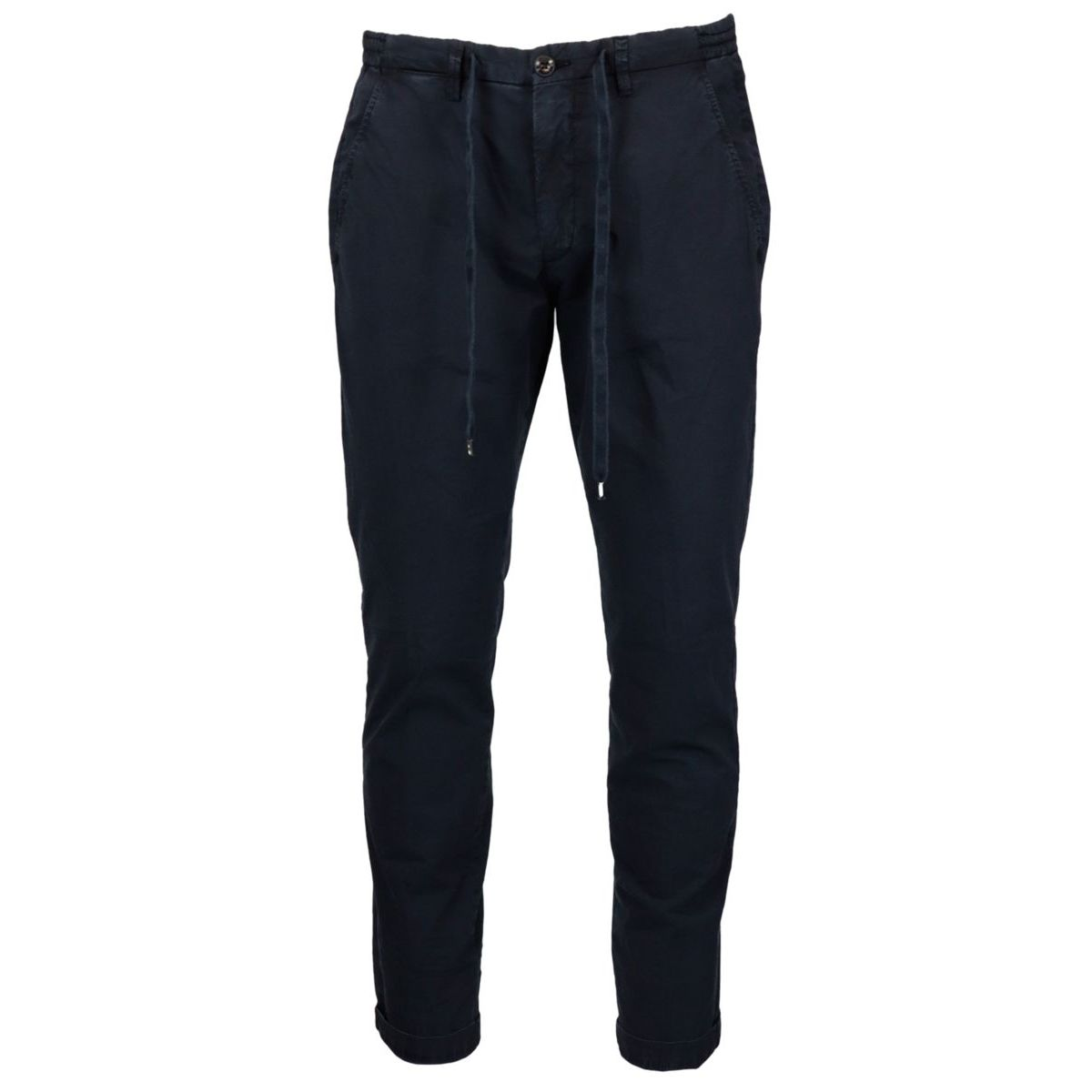 Slim trousers with cotton lace Navy Briglia