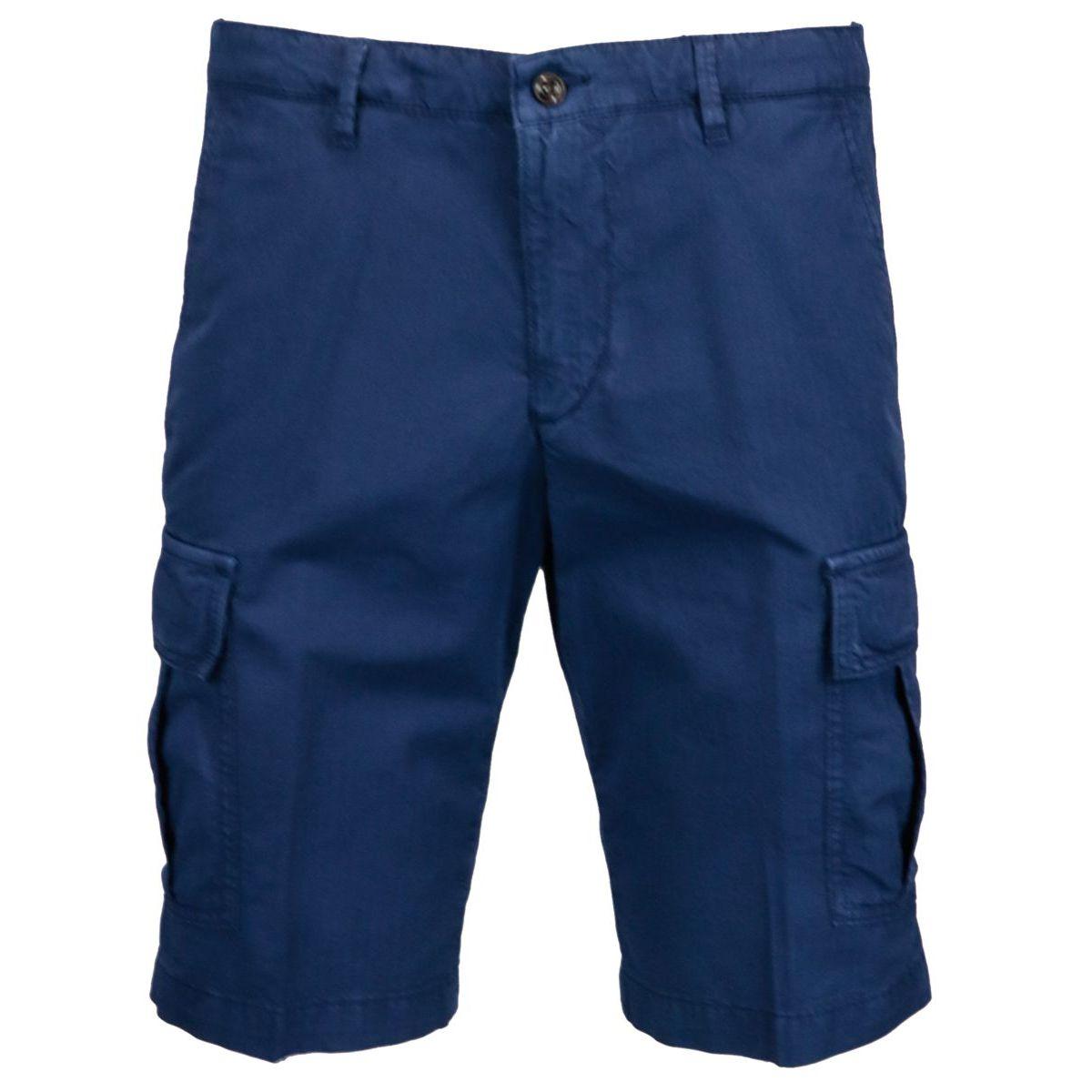 Cargo bermuda in stretch cotton Blue Briglia