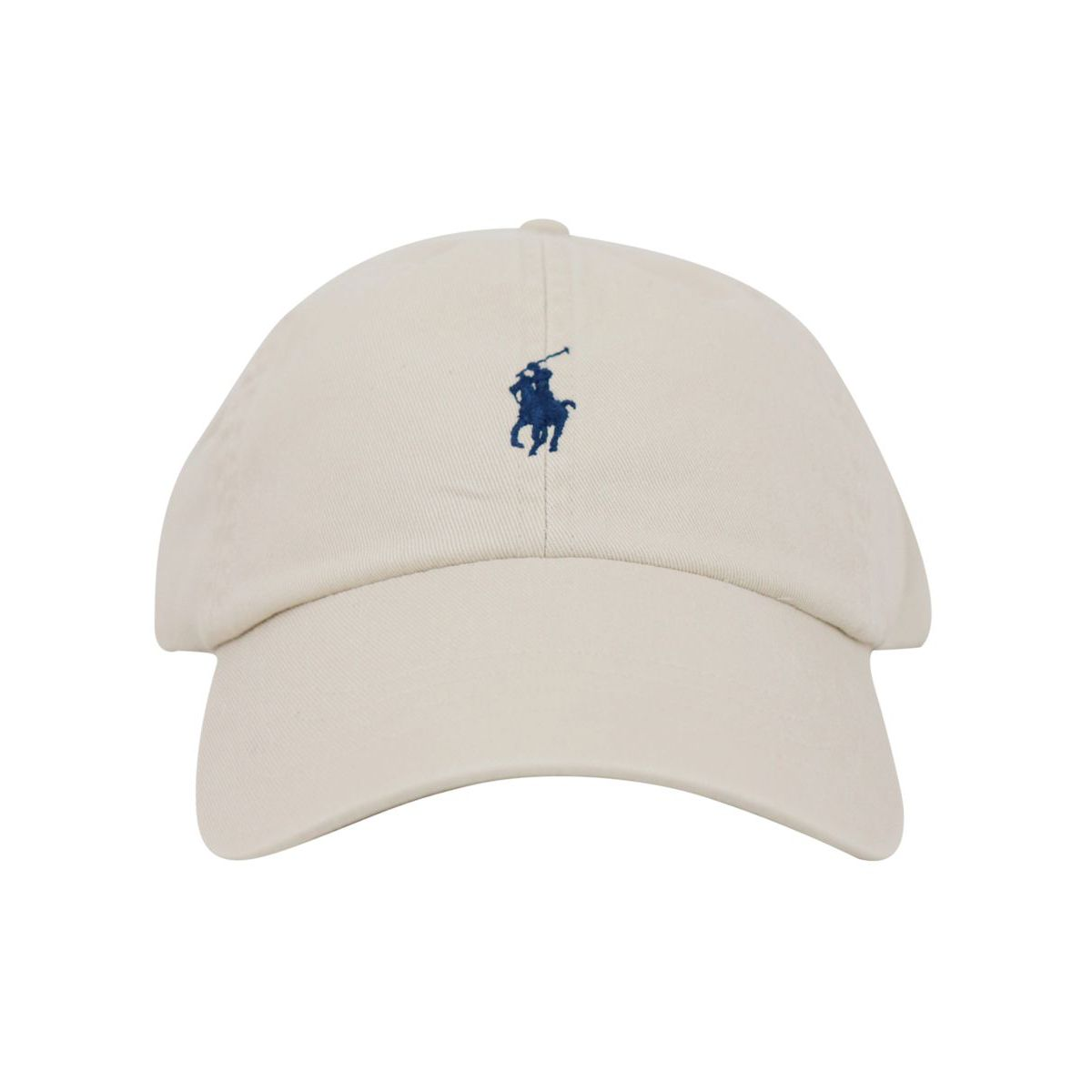 Cotton cap with visor and contrasting logo embroidery Beige Polo Ralph Lauren