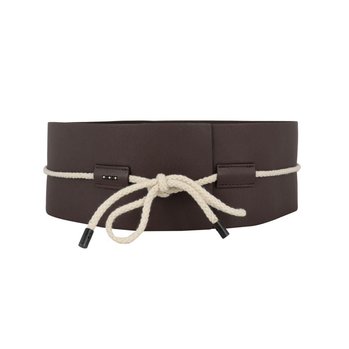 Bustier belt in nappa and natural rope Moro PESERICO