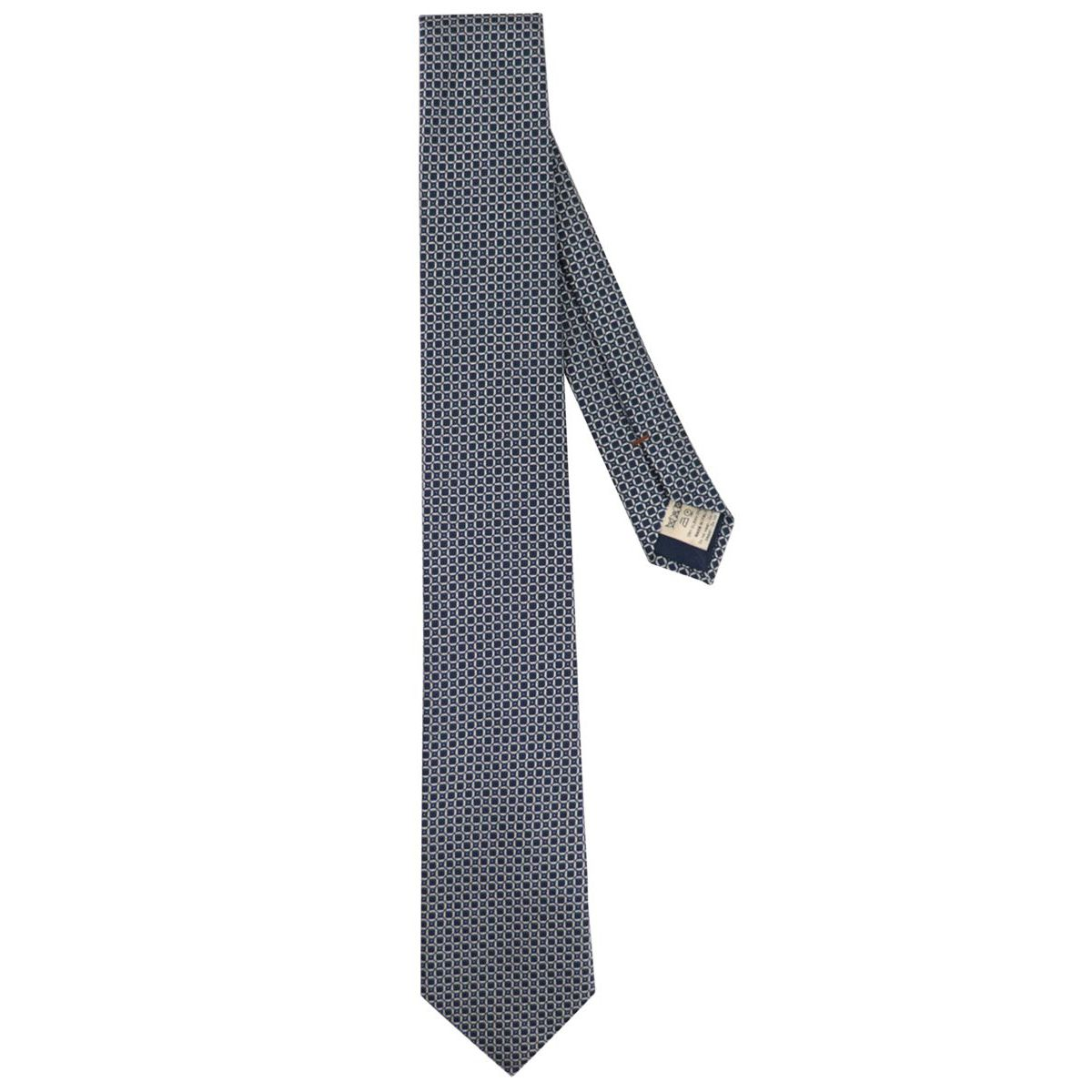 7.5 silk tie with pattern Blue Altea