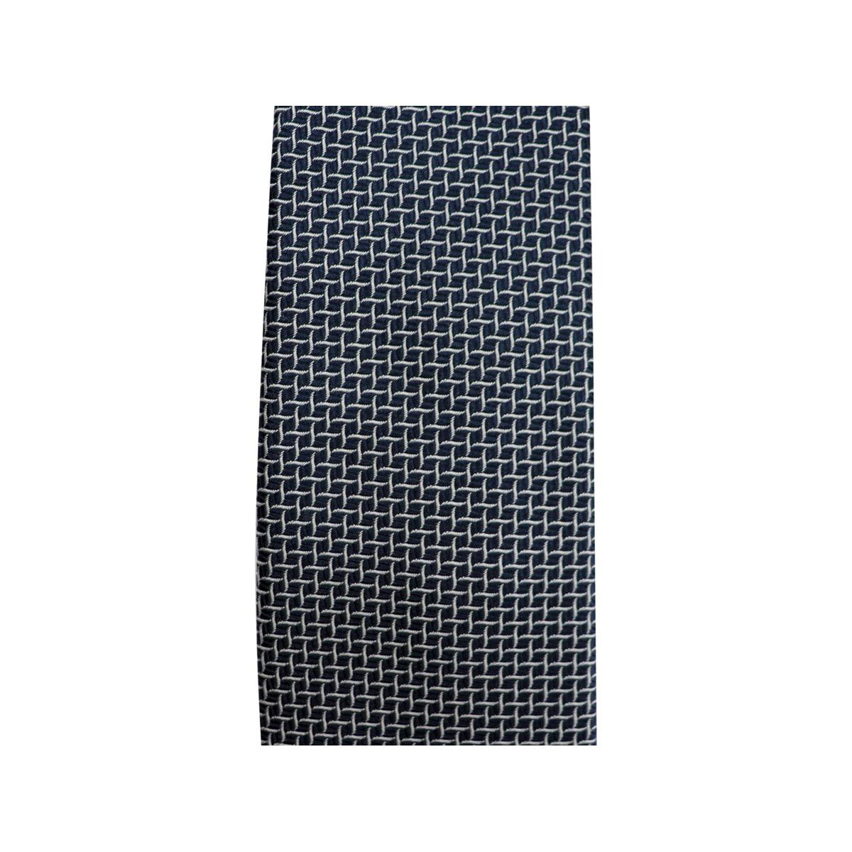 7.5 silk tie with pattern Navy Altea