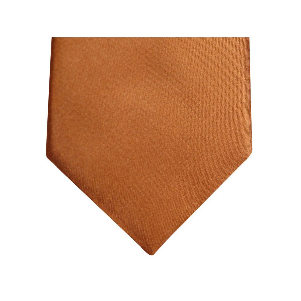7.5 solid color silk tie Copper Altea