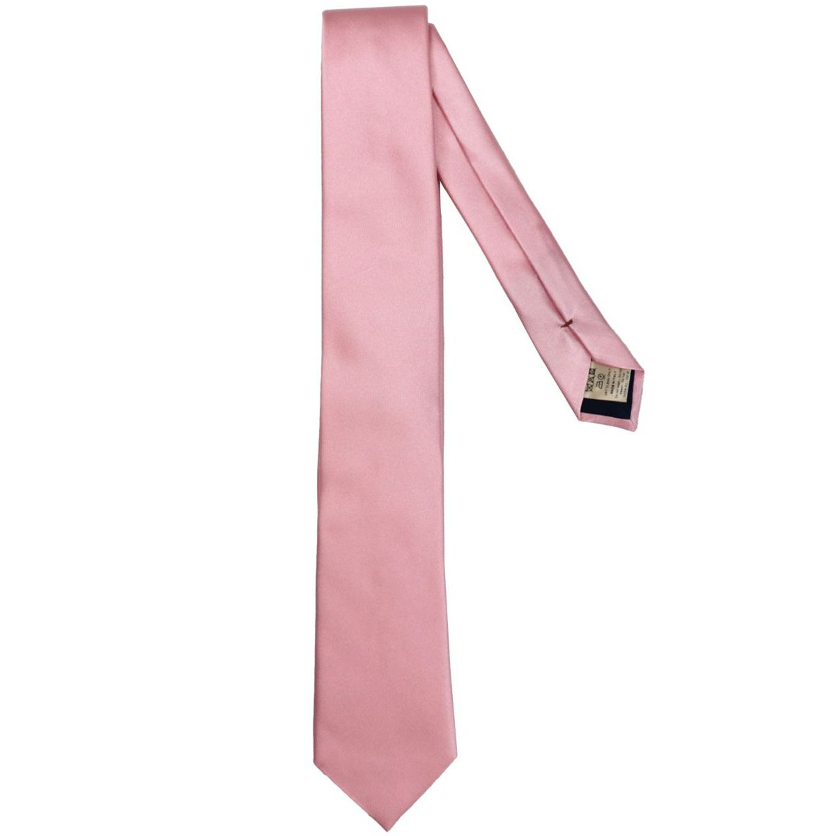 7.5 solid color silk tie Pink Altea