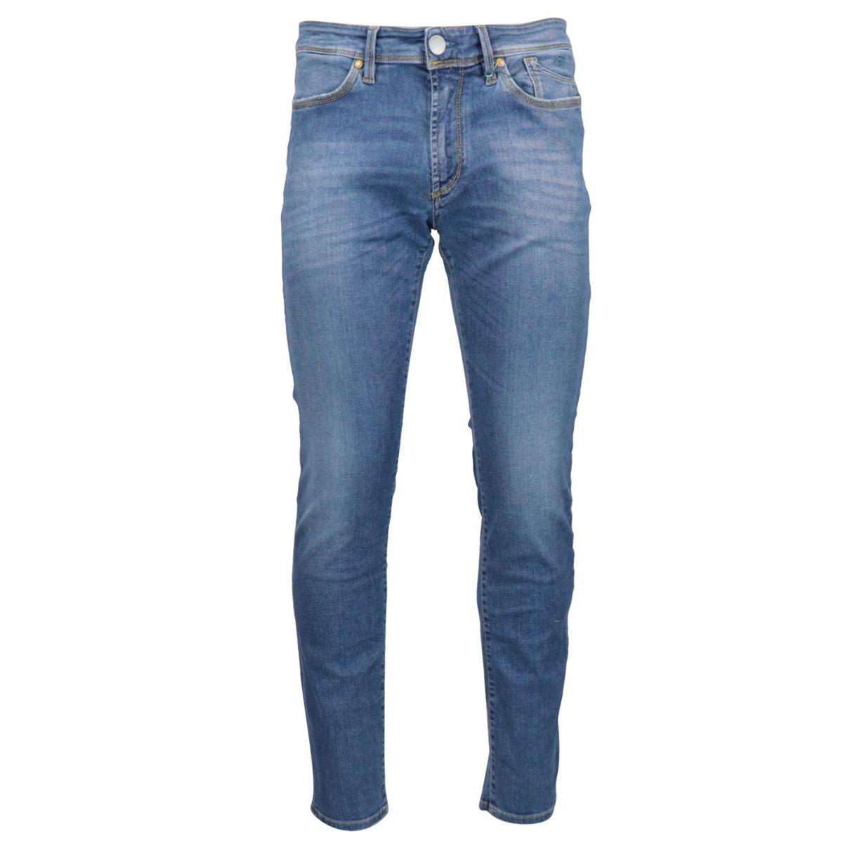5 pocket slim jeans in used stretch denim Light denim Jeckerson