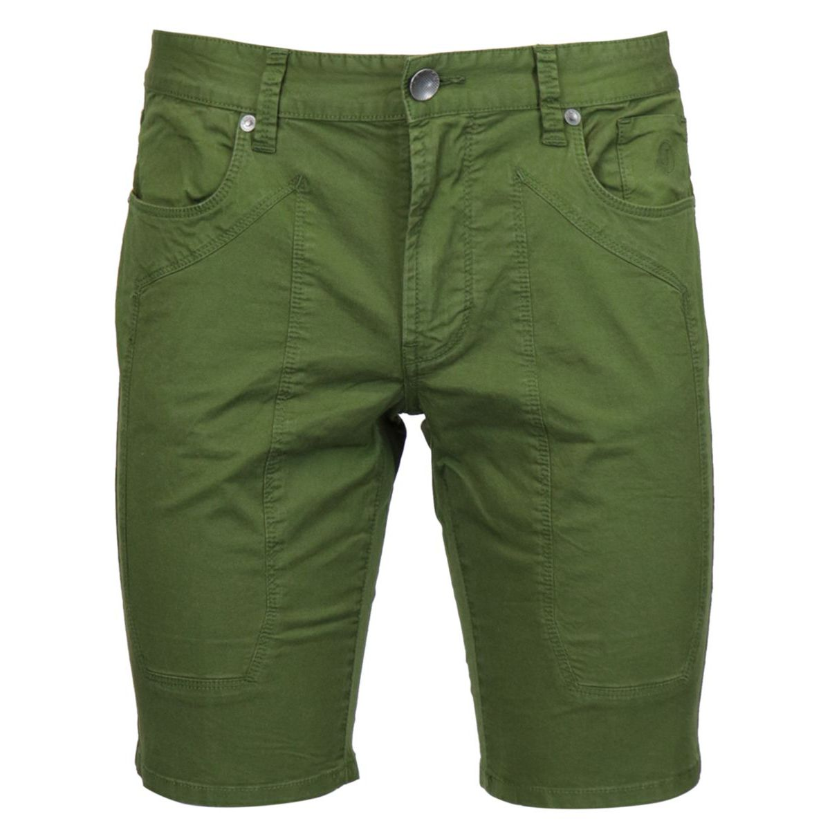 Cotton shorts with 5-pocket patch Military Jeckerson