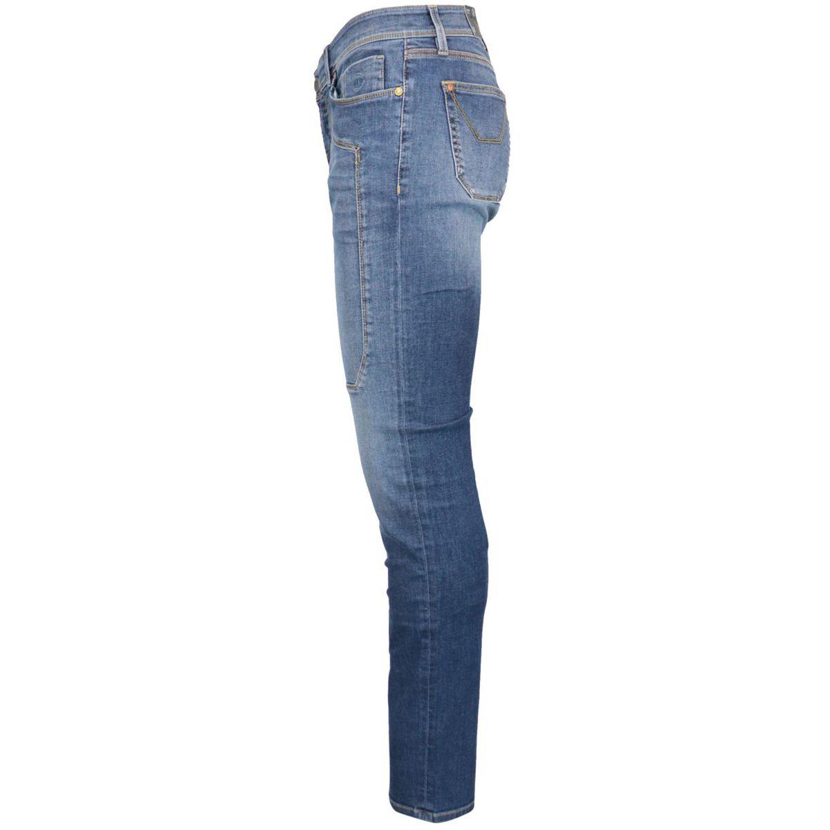 Slim denim jeans with 5 pocket model patch Medium denim Jeckerson