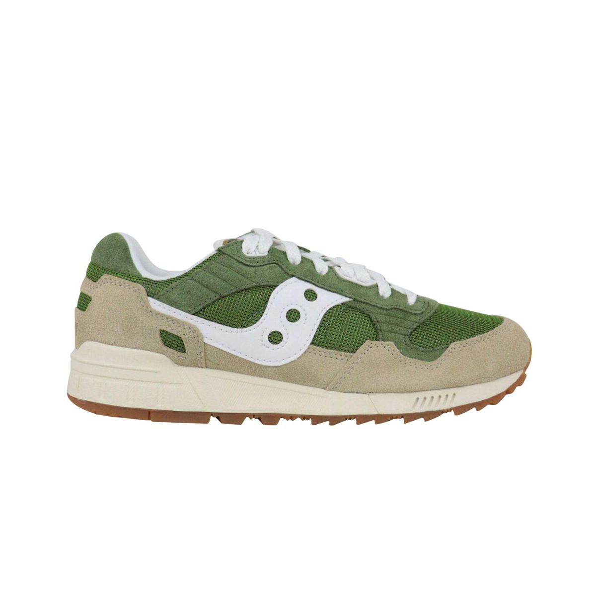 Shadow 5000 sneakers in suede and nylon Green / brown Saucony