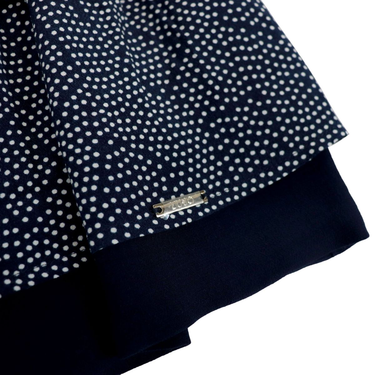 Viscose skirt with poie print and applied side bow Night blue Liu Jo