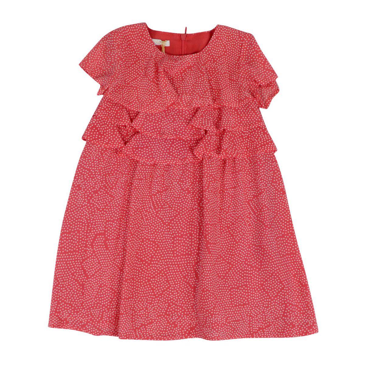 Viscose dress with polka dot print Coral Liu Jo