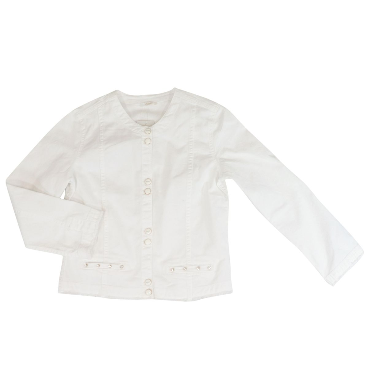 Stretch cotton gabardine jacket White Liu Jo