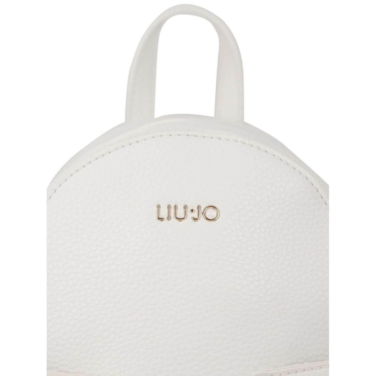 Faux leather backpack with perforated pockets and metal applications White Liu Jo