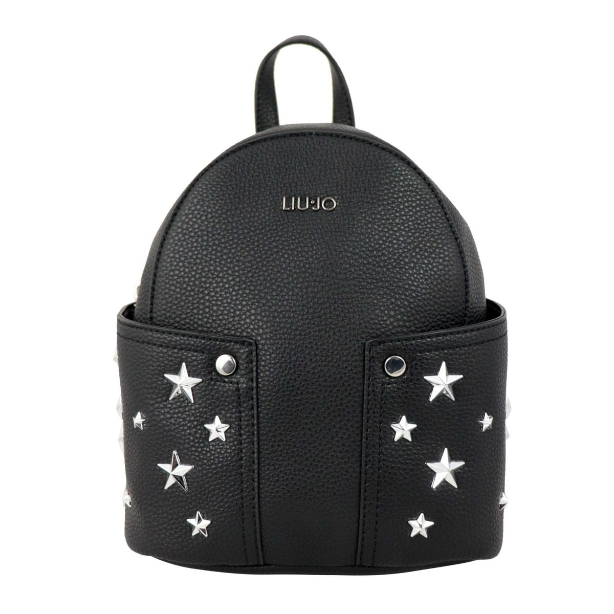 Faux leather backpack with star application Black Liu Jo