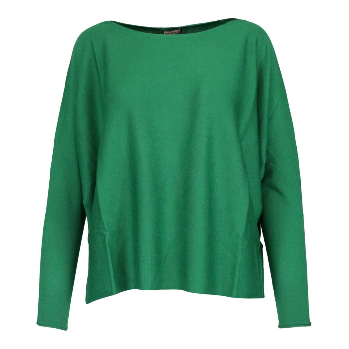 Cotton and modal sweater with boat neckline Emerald Maliparmi