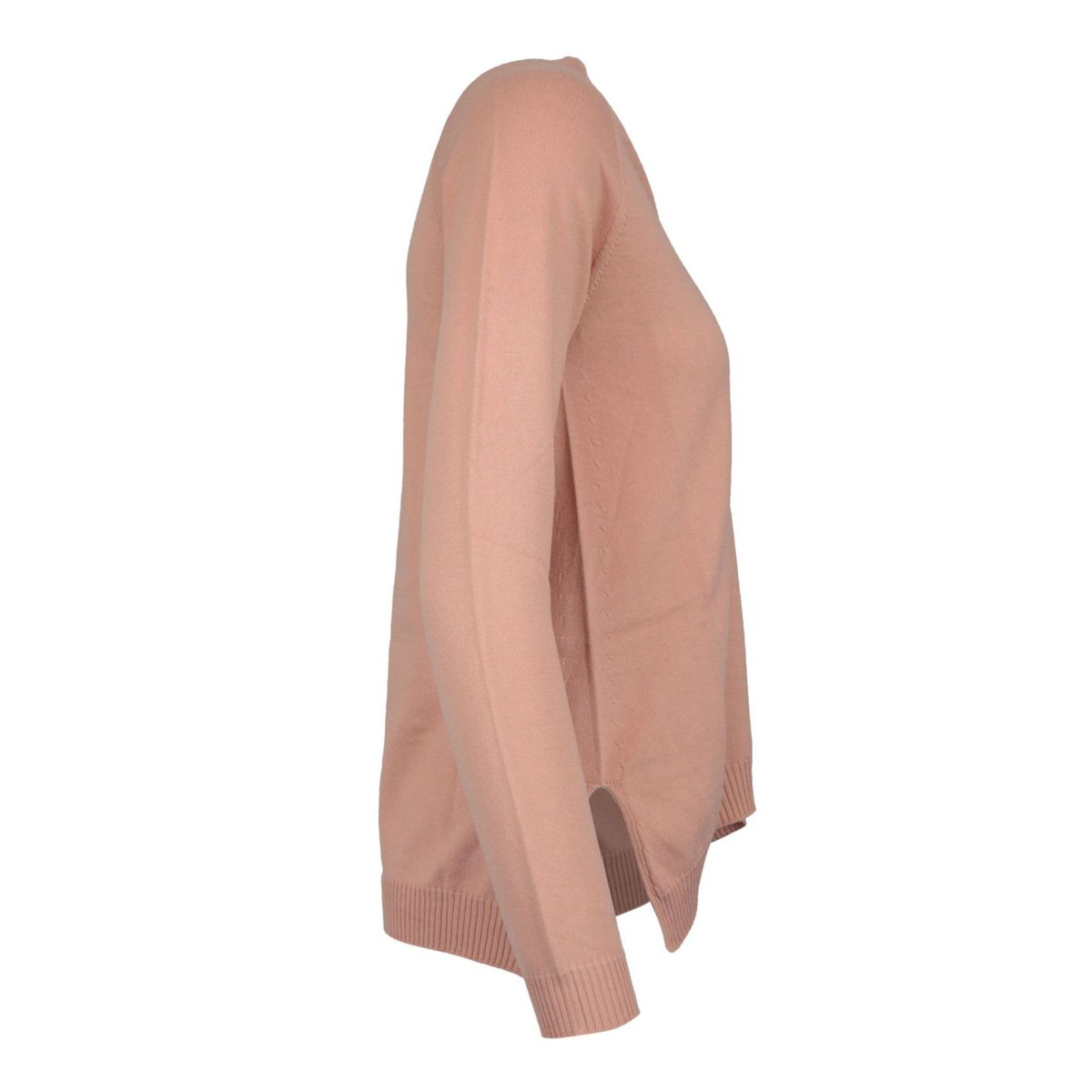 V-neck sweater in cotton and modal Antique pink Maliparmi