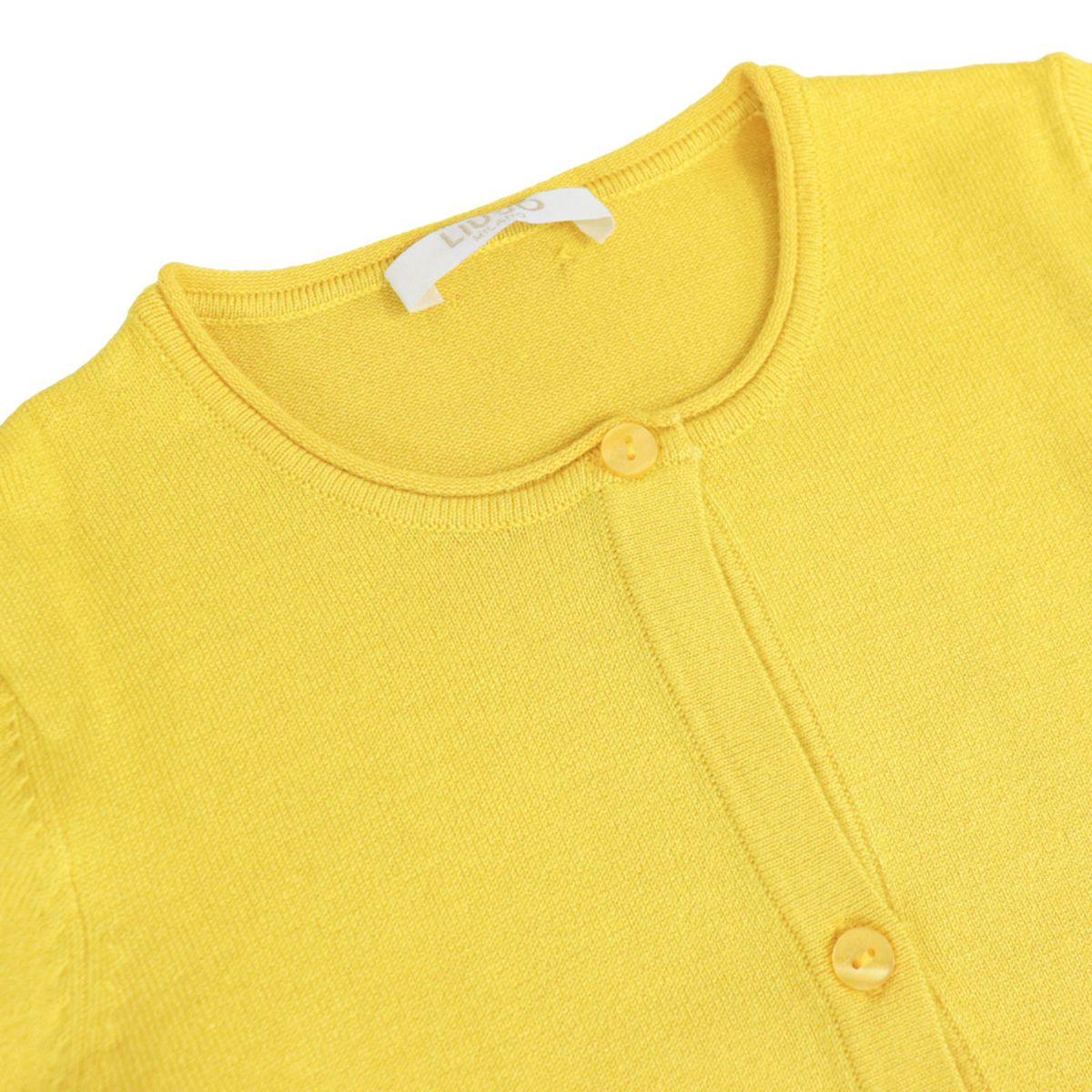 Long-sleeved cardigan in stretch viscose Yellow Liu Jo