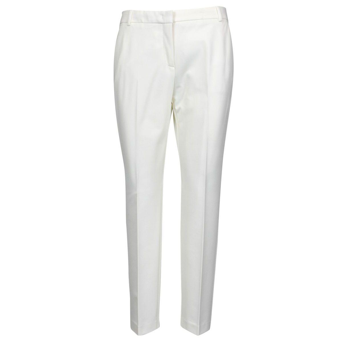 Bello 83 slim trousers in fabric stitch White Pinko