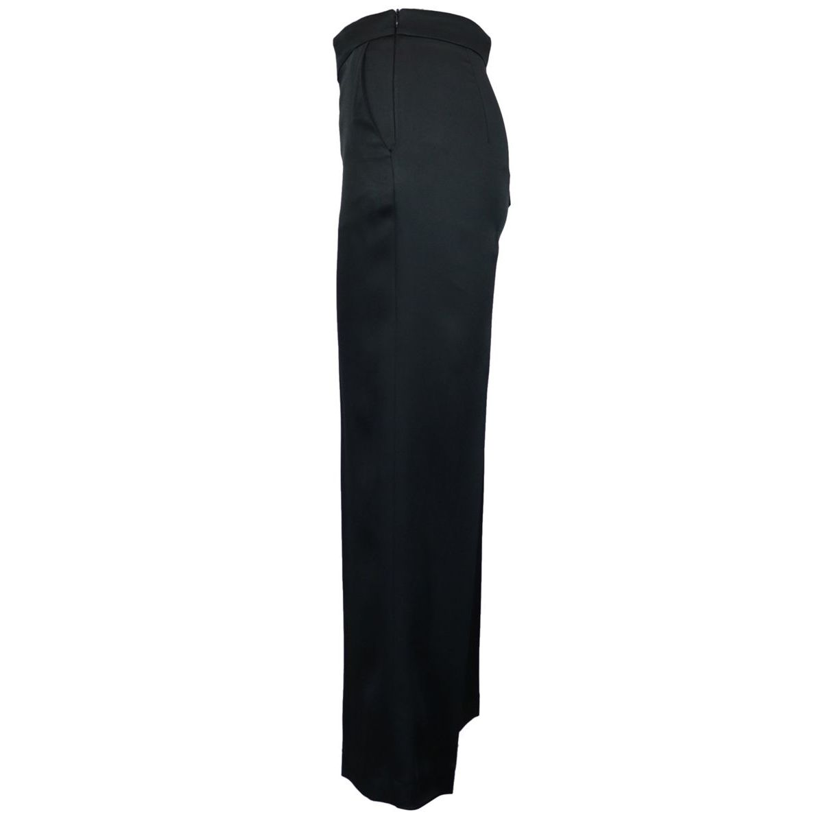 Wide satin trousers Black Maliparmi