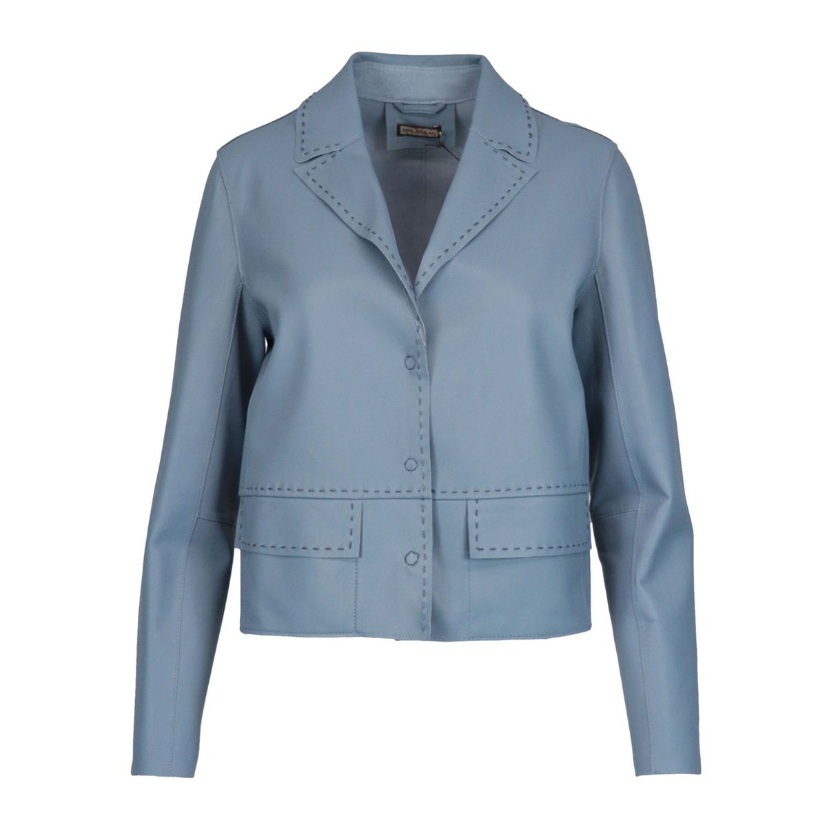 Leather jacket with stitched edges Heavenly Maliparmi