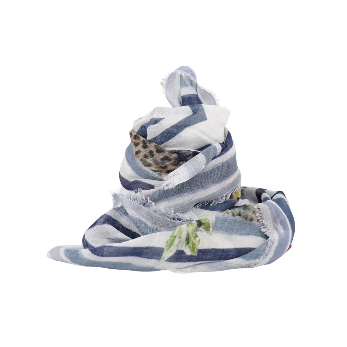 Wild Summer print modal scarf Cream Monnalisa
