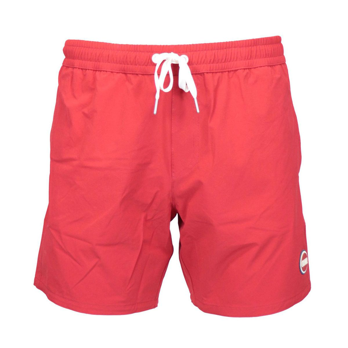Costume shorts in stretch nylon with drawstring Red Colmar