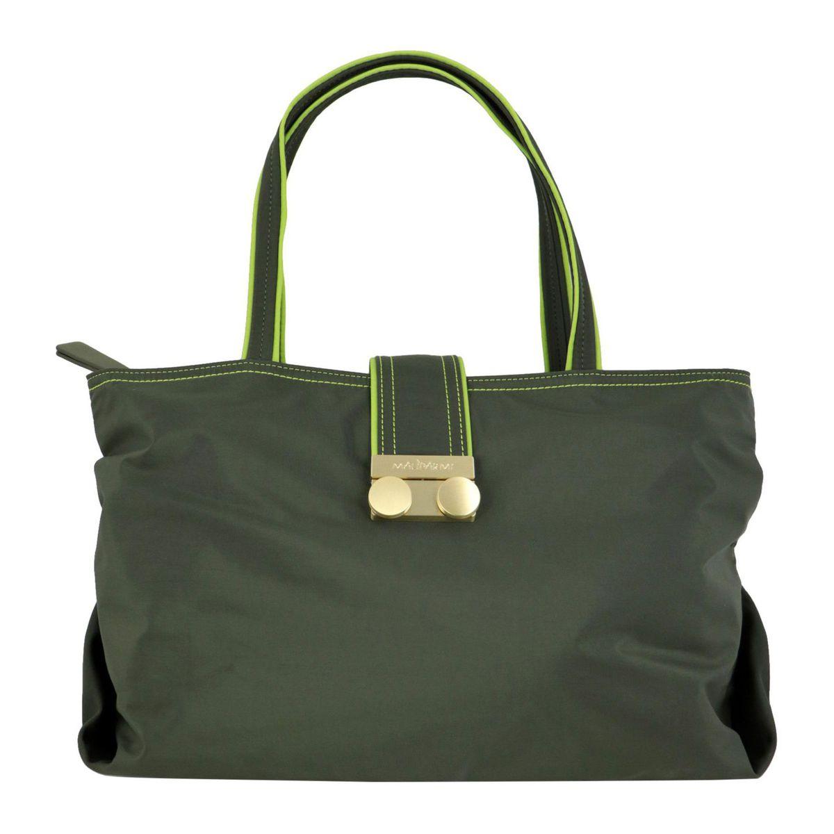 Color Block nylon shopping bag Olive Maliparmi
