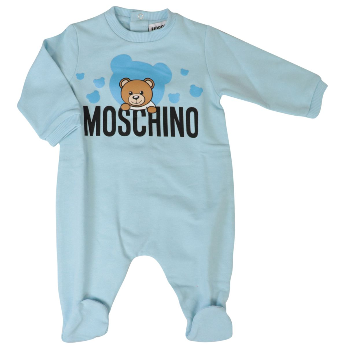 Cotton playsuit with bib and cap Heavenly Moschino