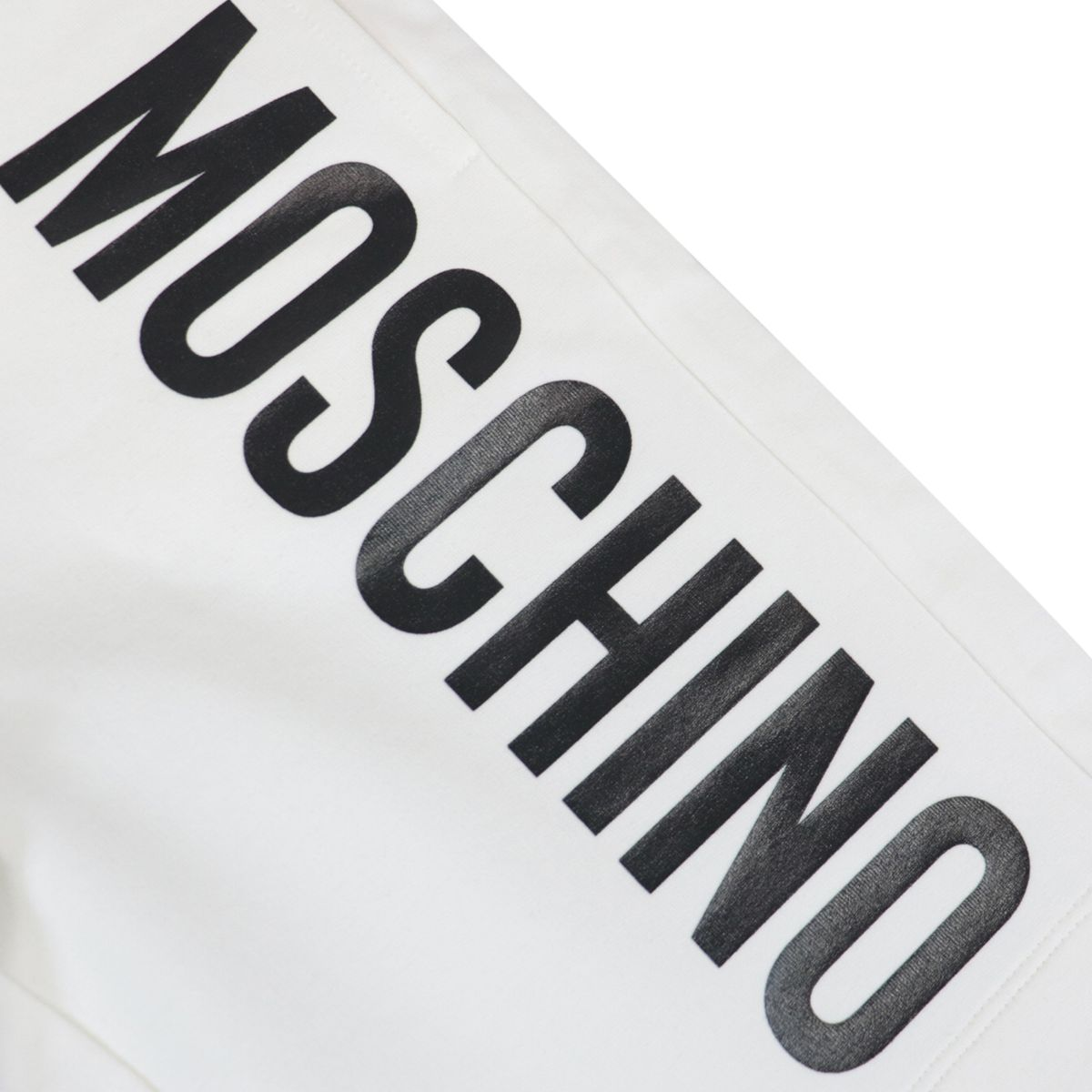 Cotton bermuda with side logo print White Moschino