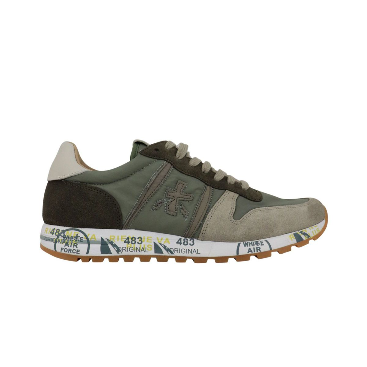 Eric sneakers in printed suede Military Premiata