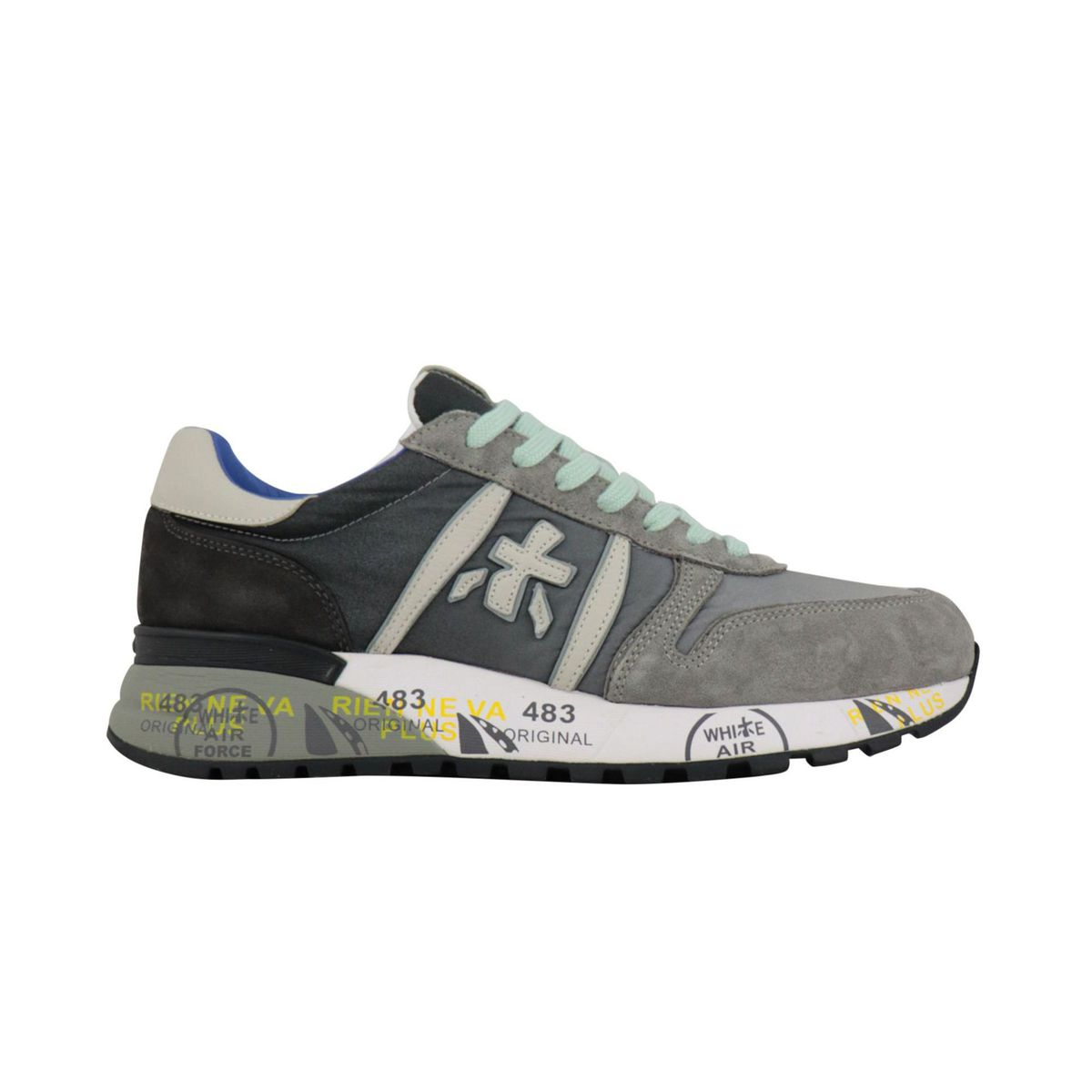 Lander sneakers in printed suede Grey Premiata