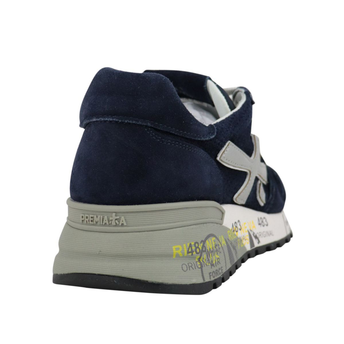 Mick sneakers in suede with prints Navy Premiata