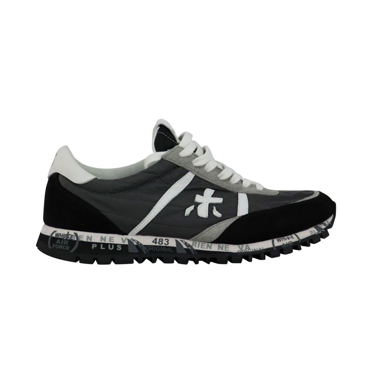 Sean sneakers in suede and nylon with prints Grey Premiata