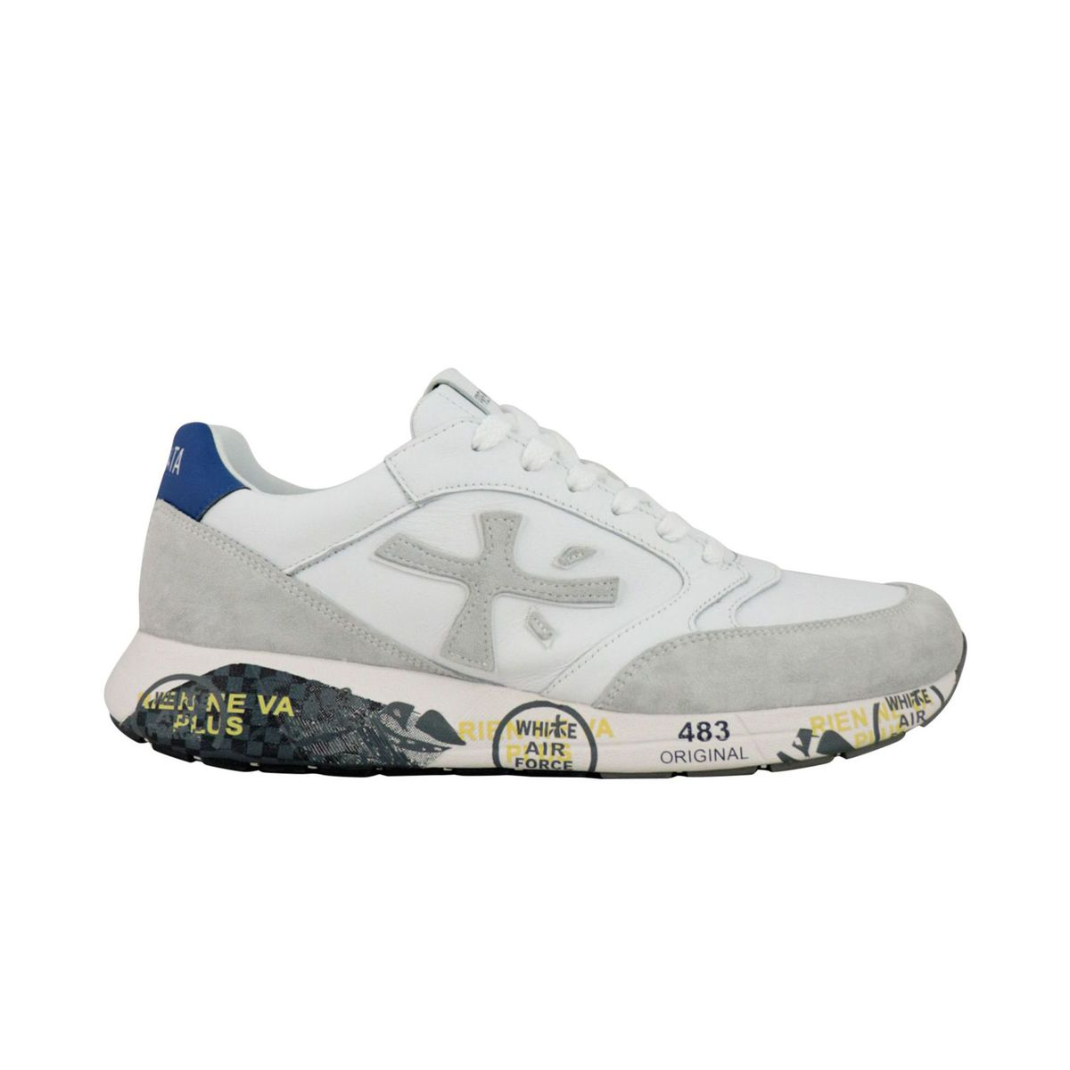 ZacZac sneakers in suede and leather with prints White Premiata