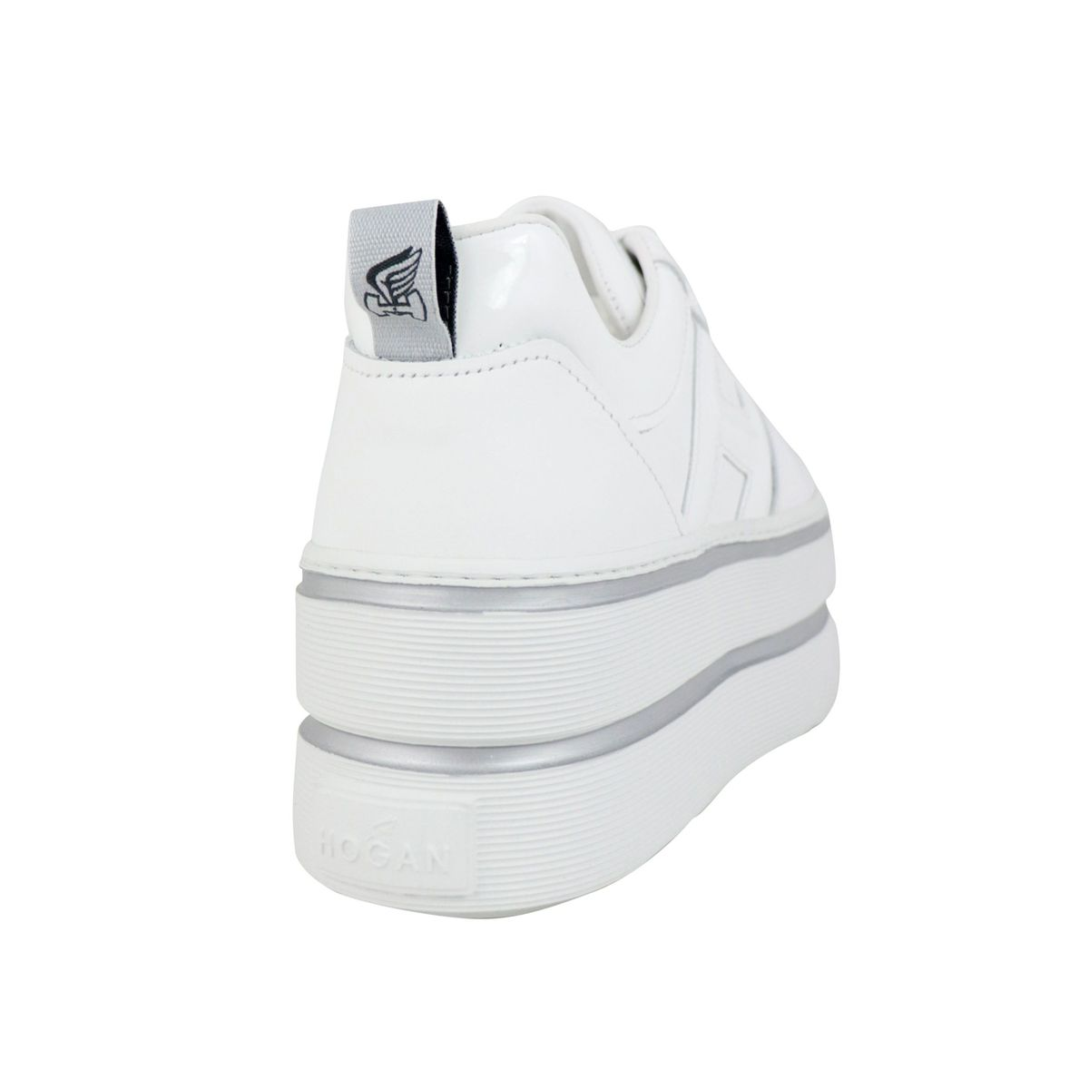 Maxi sneakers in leather with H in patent leather White Hogan