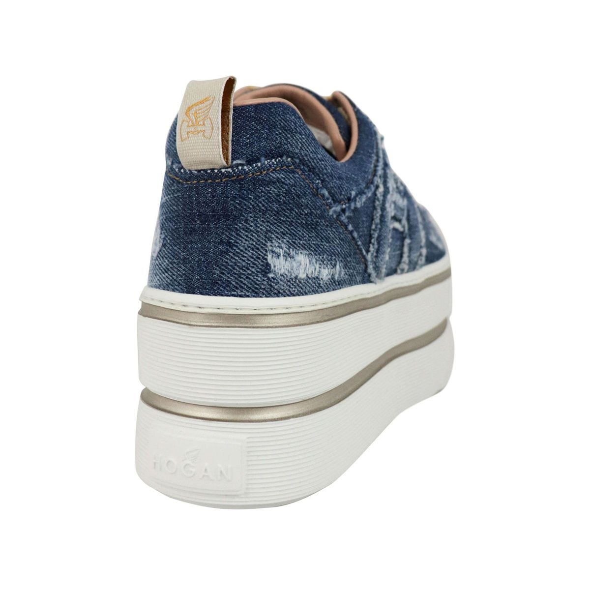 Maxi sneakers in denim canvas Blue jeans Hogan