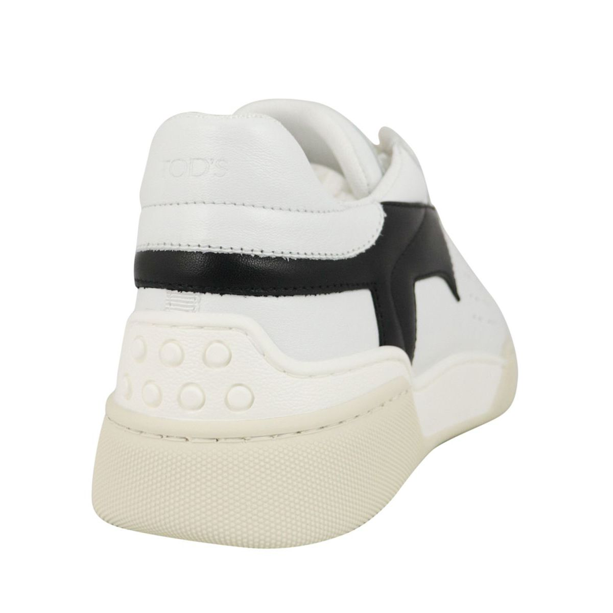 Leather box bottom sneakers with maxi T White Tod's