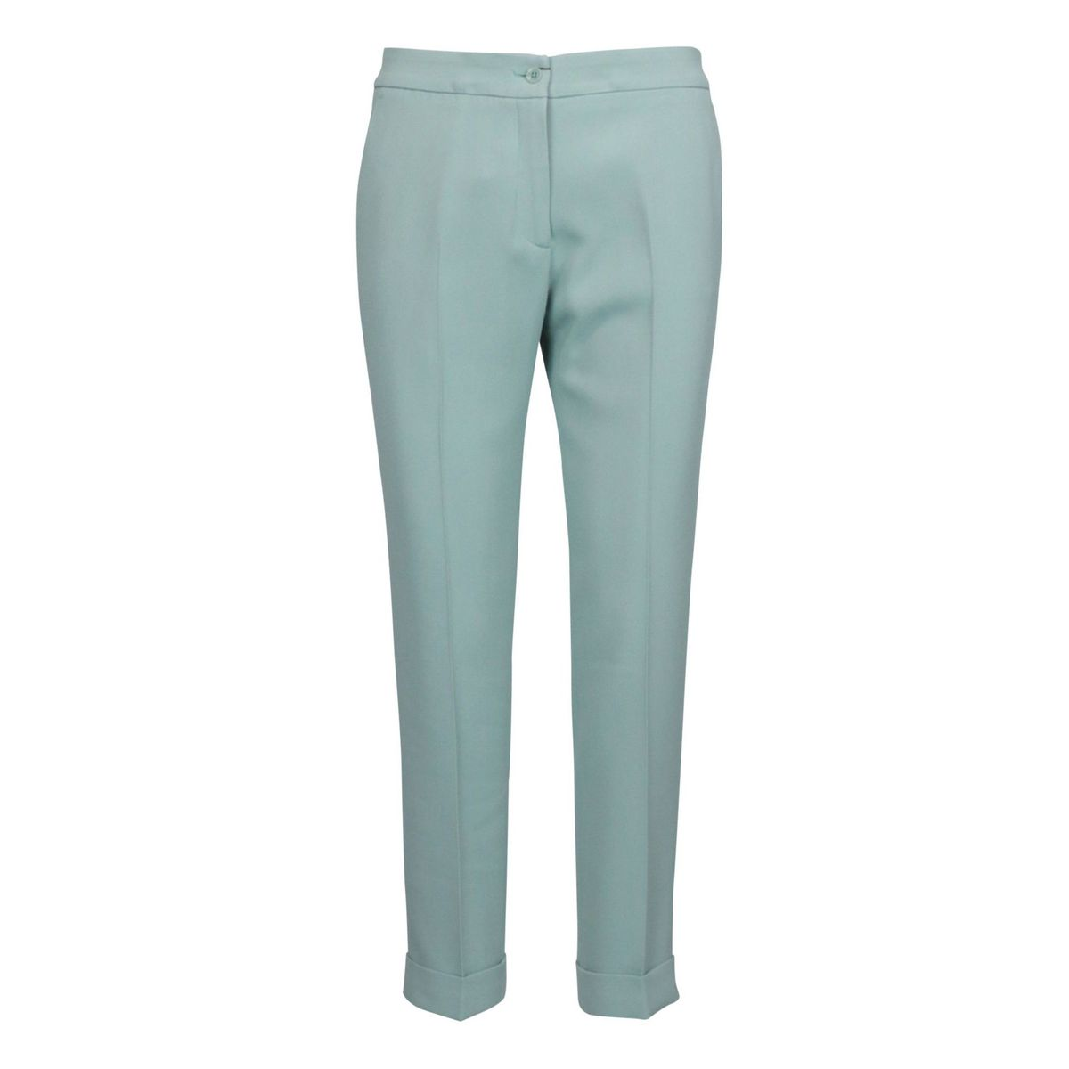 Crepe trousers with ironed crease and welt pocket Green water Etro