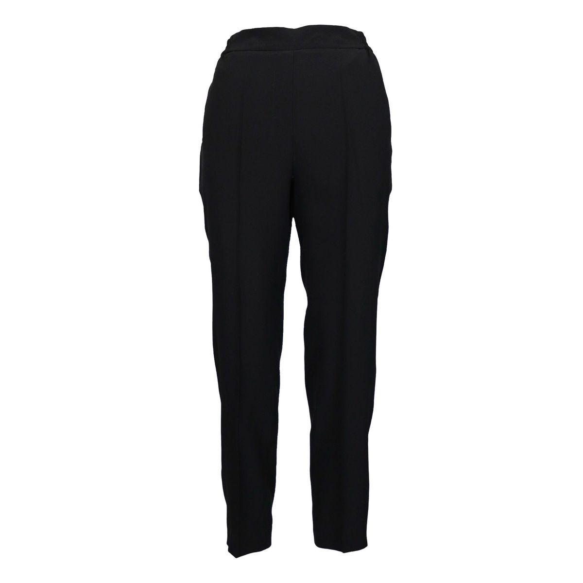 Cigarette silk trousers with stretch crease Black Etro